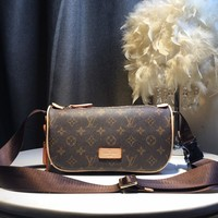 Kuyou Gb59717 Lv Louis Vuitton Monogram Brown Bumbag