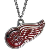 """NHL Detroit Red Wings Chain Necklace, 22"""""""