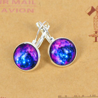 Galaxy patterns Gemstone Earrings