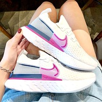 NIKE EPIC REACT FLYKNIT 2019 new cushioning women's running shoes White