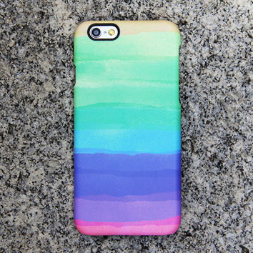 Rainbow Color iPhone 6 iPhone 6 plus Case Green iPhone 5S 5 iPhone 5C iPhone 4S/4 Case Purple Samsung Galaxy S6 edge S6 S5 S4 S3 Case 038