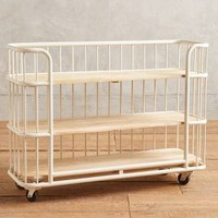 Visby Three-Tier Bookcase by Anthropologie in Cream Size: Three-shelf Bookcase Furniture