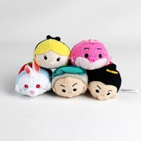 Tsum Tsum Alice In Wonderland Tweedledee Tweedledum White Rabbit Mad Hatter Charlie Cat Cute Mini Plush Toy Birthday Gift