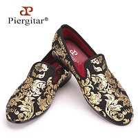 New High-end Gold printing Men Shoes Luxury Fashion Men Men's Flats