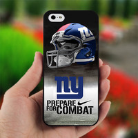 New York Giants Nike Prepare For Combat NFL - PC043 - Print on Hard Cover - For iPhone 4 / 4S Case - iPhone 5 Case - Black, White, and Clear