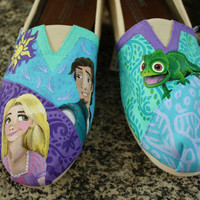 Tangled Characters Original Custom Acrylic by SomethingFromTheSun