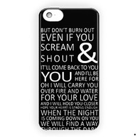 1D One Direction Lyrics Music For iPhone 5 / 5S / 5C Case