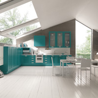 Lacquered linear kitchen with handles Kelly by FEBAL | design Alfredo Zengiaro