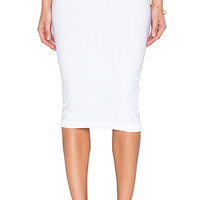 Knit Pencil Sweater Skirt in White