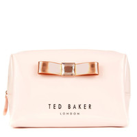 Bow detail wash bag - Nude Pink | Gifts for her | Ted Baker ROW