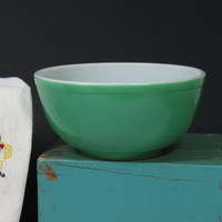 Early Pyrex 1940s Unnumbered Green Primary Mixing Bowl Vintage
