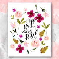 It is Well with My Soul, Christian Hymn Printable