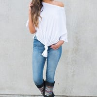 Ellie Knotted Top (White)