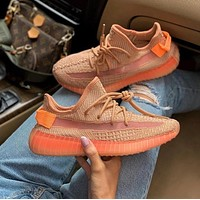 ADIDAS YEEZY 350 V2 fashion men and women casual breathable sports running shoes