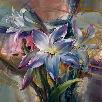 Frameless Vivid Flower DIY Painting By Numbers Kits Oil Painting On Canvas Drawing Painting By Numbers For Wall Art Picture