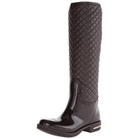 Nomad Womens Axel Quilted Faux Leather Rain Boots