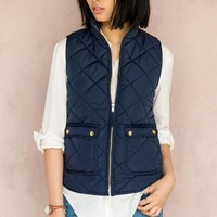 Quinn Quilted Puffer Vest
