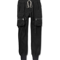 Rick Owens - Slim-Fit Tapered Cotton-Jersey Cargo Sweatpants