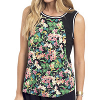 Tropical Floral Sport Chic Top
