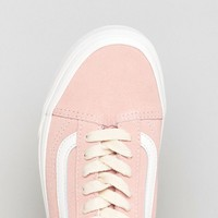 Vans Old Skool Unisex Sneakers In Pink Suede at asos.com
