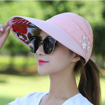 Foldable Wide Large Brim Floppy Beach Gorro Baseball Cap