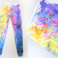 Splash Dyed Hand PAINTED Full Length Stretch by twostringjane