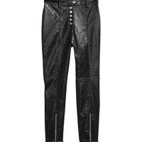 Coated Slim-fit Pants - from H&M