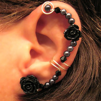 Non Pierced Ear Cuff  Forever Beautiful by ArianrhodWolfchild