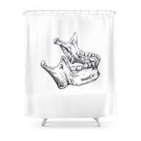 Society6 Jaw Shower Curtain
