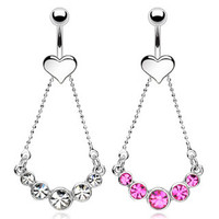 Belly Ring-Crystal Rope