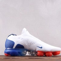 Nike Air Vapormax Flyknit BHM Fashion Causal Running Shoes White Blue Red