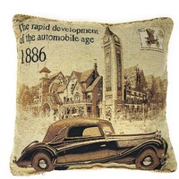 Tache A Drive into Town with Benz Throw Pillow Cushion Cover (16543)
