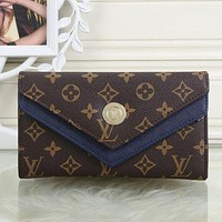 LV Louis Vuitton Women Leather Shopping Fashion Wallet Purse I