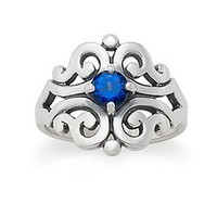 Spanish Lace Ring with Blue Sapphire   James Avery