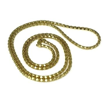 14k Gold Box Link Vintage Chain Long 31 inch Gold Chain 17.7g
