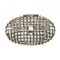 Oval Cage Clutch - ANNDRA NEEN Oval Cage Clutch