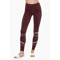 Gemma High Waist Leggings - Burnt Red