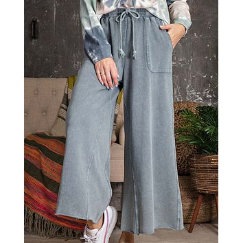 Mineral Wide Leg Pants in Sky