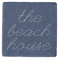 The Beach House Stone Coaster