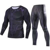 2018 Movie Avengers 3 Infinity War king Black Panther transformation Cosplay T-Shirt Sets Superhero 3D Compression Shirts suits