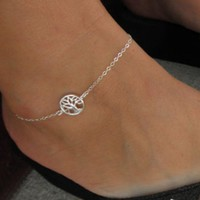 ONETOW Fashion street shoots simple tree life tree tree anklet