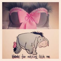 FREE SHIPPING: Eeyore inspired rave bra/ costume bra/ rave outfit