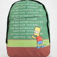Neff The Simpsons Chalkboard Backpack Green One Size For Men 26130050001