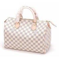 LOUIS VUITTON  Women Trending Fashion Leather Shoulder Bag White G