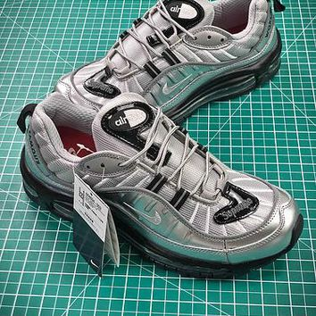 Nike Air Max 98 Silver 844694-0039 Sport Shoes - Best Online Sale