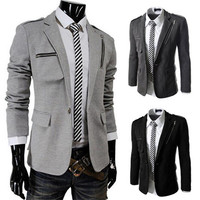 Sports Jacket with Zipper Detail