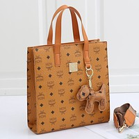 MCM Women Fashion Leather Handbag Tote Satchel