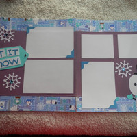 Double 12x12 PreMade Snowman Scrapbook Layout