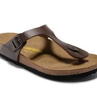 Men's and Women's BIRKENSTOCK sandals  Gizeh Birko-Flor Patent 632632288-028