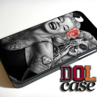 Tattooed Marilyn Monroe Peach Rose iPhone Case Cover|iPhone 4s|iPhone 5s|iPhone 5c|iPhone 6|iPhone 6 Plus|Free Shipping| Delta 188